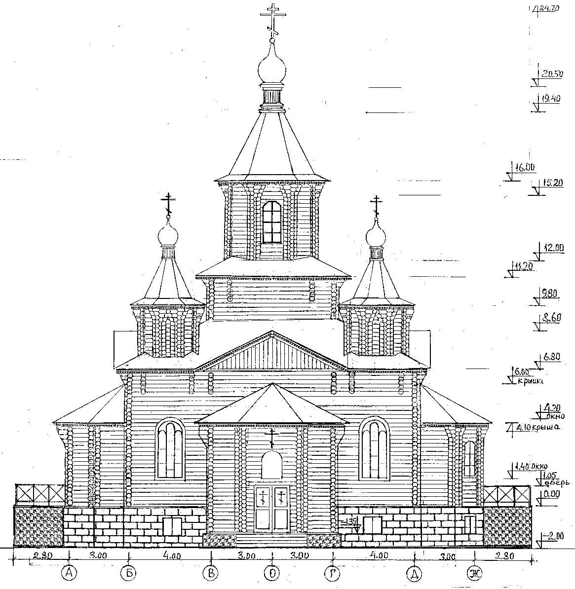 Церковь из бумаги своими руками схема